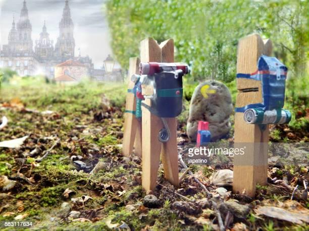 clothespin pilgrimage to Santiago de Compostela