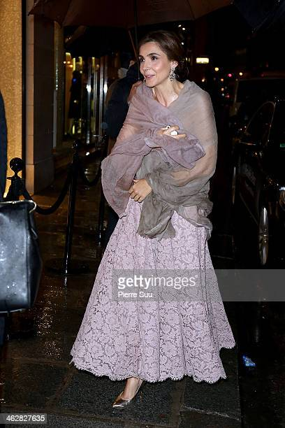 Clothilde Courau arrive at the Valentino Boutique opening on January 15 2014 in Paris France
