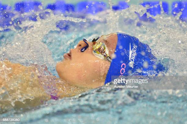 Clothilde Cousson competes in the 200m Women's Individual Backstroke final on day four of the French National Swimming Championships on May 26 2017...