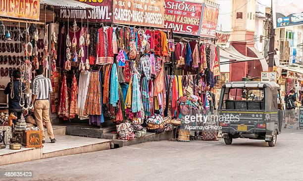 clothing and fabric store in udaipur - udaipur stock pictures, royalty-free photos & images
