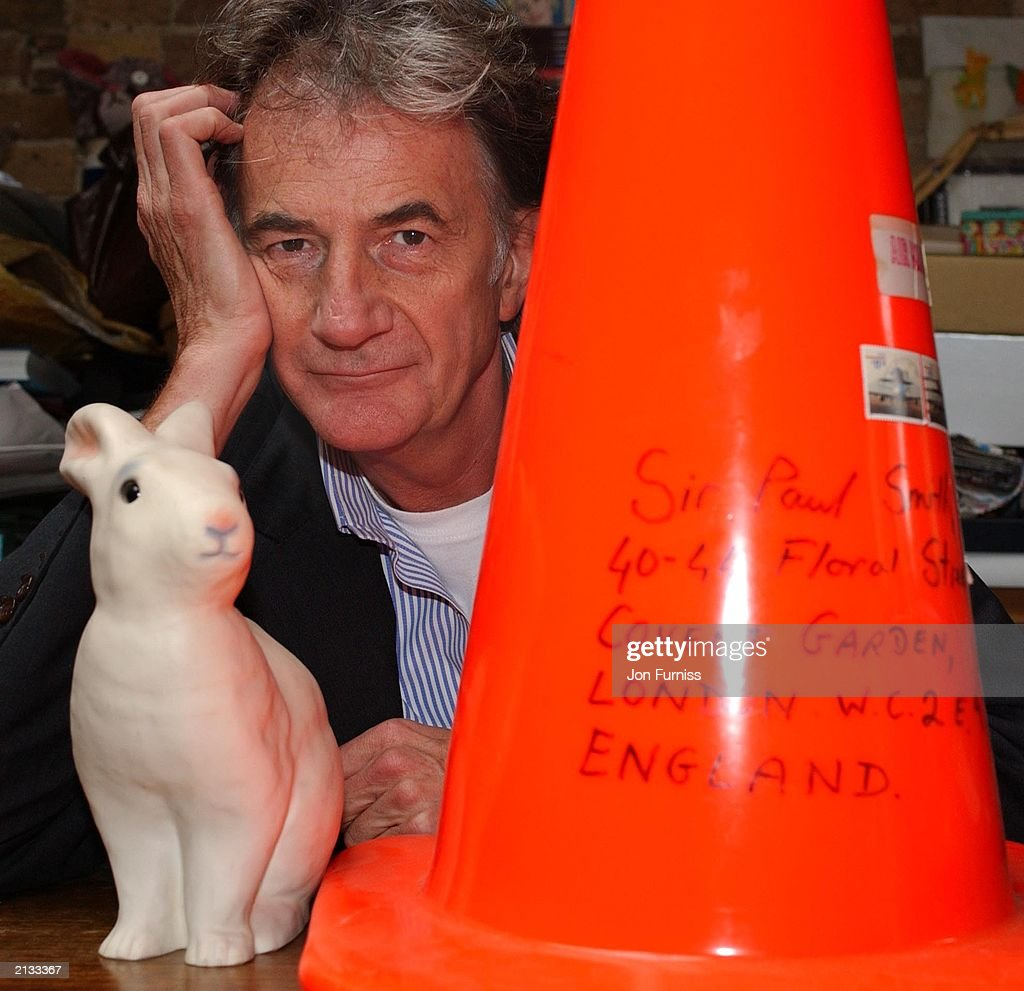 Designer Sir Paul Smith in his office on 1 May 2003 : News Photo