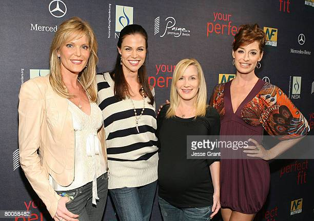 Clothing designer Paige AdamsGeller actress Brooke Burns actress Angela Kinsey and Ashley Borden arrive at the Paige Premium Denim Your Perfect Fit...