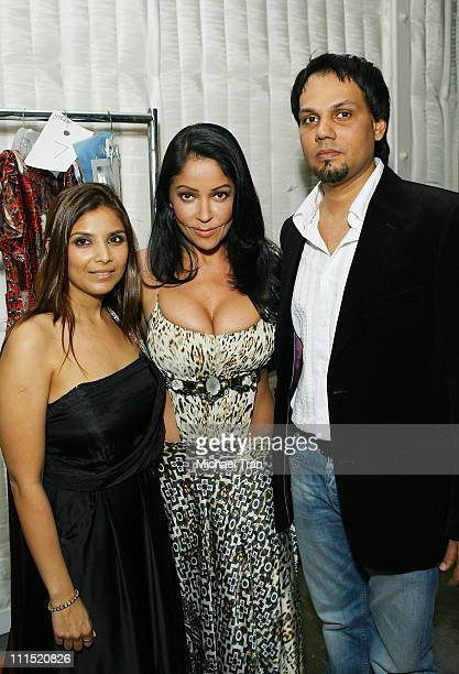 Clothing designers Falguni Shane Peacock and actress Apollonia Kotero backstage at Falguni and Shane Peacock Fall 2008 collection during Mercedes...