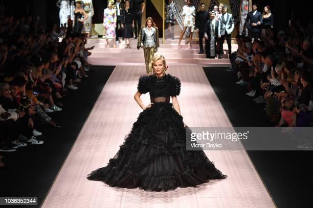 Clothing detail at the Dolce Gabbana show during Milan Fashion Week Spring/Summer 2019 on September 23 2018 in Milan Italy