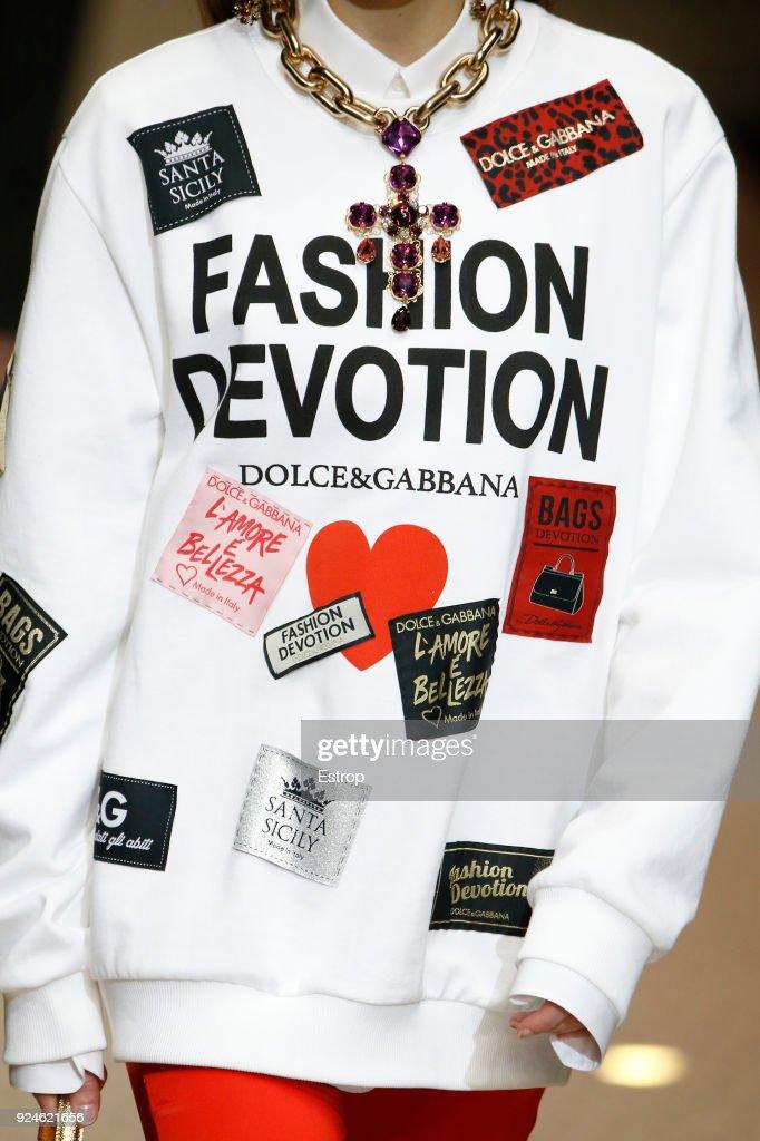 Dolce & Gabbana - Details - Milan Fashion Week Fall/Winter 2018/19 : News Photo
