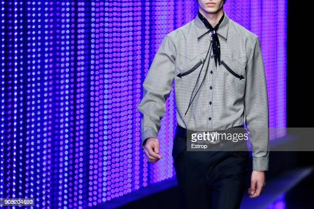 Clothing detail at the Dsquared2 show during Milan Men's Fashion Week Fall/Winter 2018/19 on January 14 2018 in Milan Italy