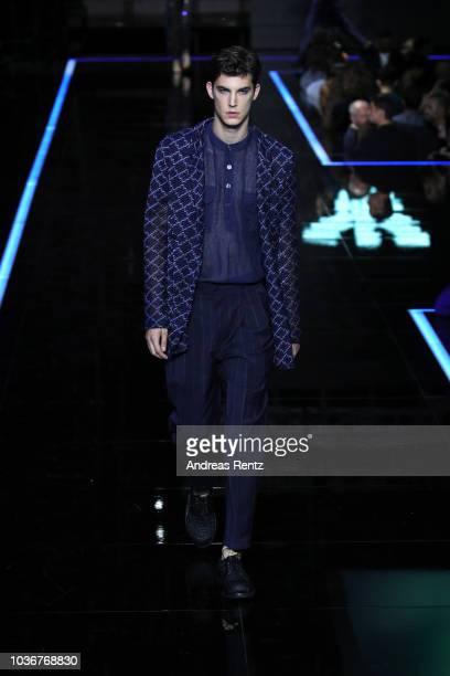 Clothing detail at the Moschino show during Milan Fashion Week Spring/Summer 2019 on September 20 2018 in Milan Italy