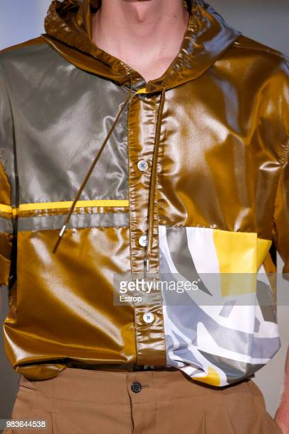 Clothing detail during the Hermes Menswear Spring/Summer 2019 show as part of Paris Fashion Week on June 23 2018 in Paris France