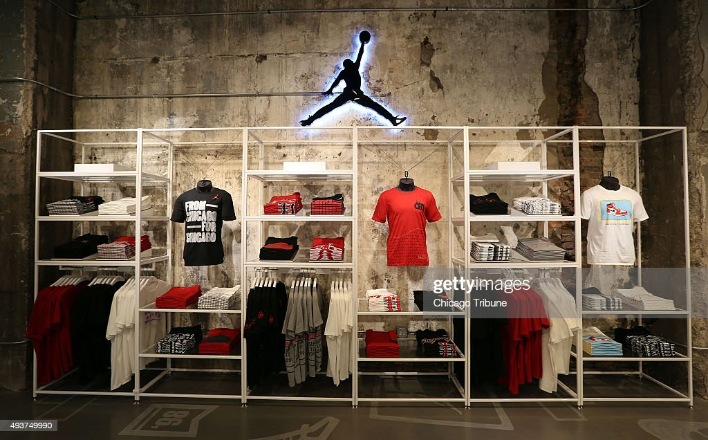 A Clothing Display At The New Jordan Store By Nike In Chicago