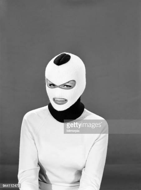 Fashion Hats Woman wearing balaclava hat Model DellaPat Young 1965