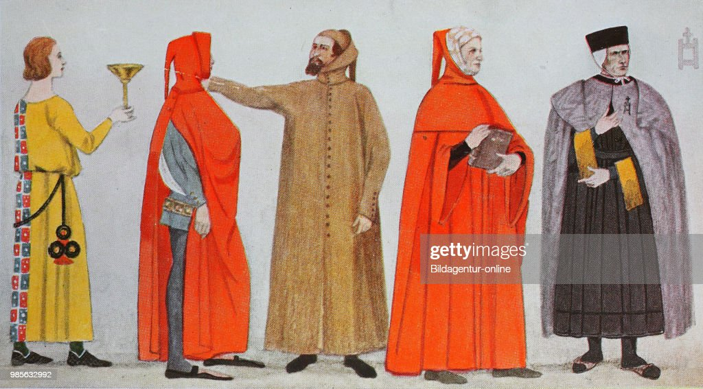 Clothing, fashion in Italy, early Renaissance in the 14th century