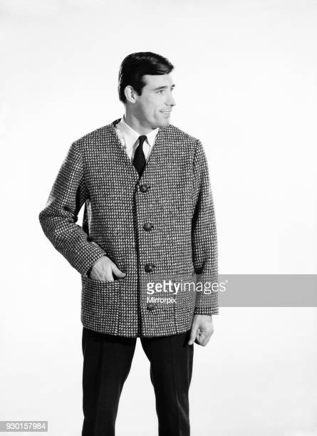 Fashion Menswear Man wearing tweed Jacket Model Peter Anthony 1962