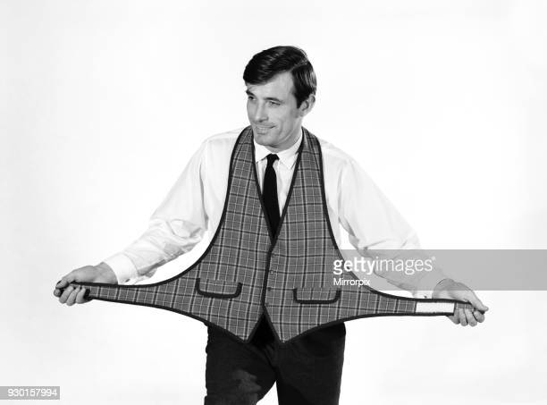 Fashion Menswear Peter Anthony modelling waistcoat 1964