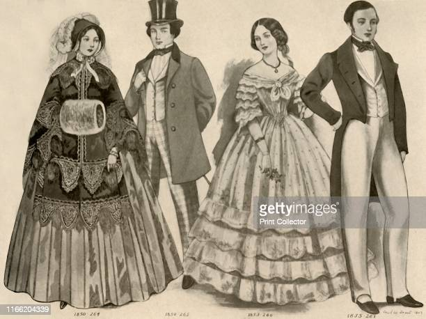 Clothing from 18501856' From History of American Costume Book One 16071800 by Elisabeth McClellan [Tudor Publishing Company New York 1937] Artist...