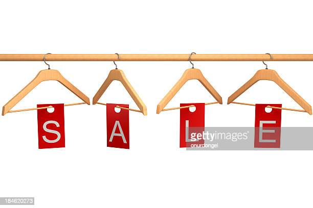 Clothing Hangers with Sale Tag