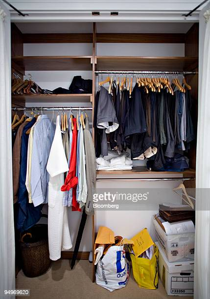 Clothing hangs in the master bedroom closet in the apartment of Marc Dreier, founder of the law firm Dreier LLP sentenced to 20 years in prison for...