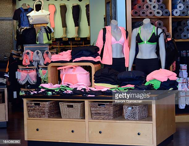 Clothing made by Lululemon Athletica Inc. Is on display for sale on March 19, 2013 in Pasadena, California. Lululemon removed some of its popular...
