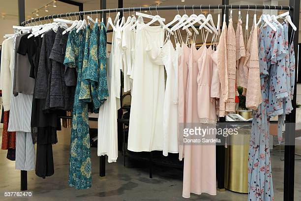 Clothing on display during House of Harlow 1960 x REVOLVE on June 2, 2016 in Los Angeles, California.