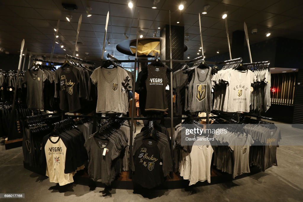 watch 3d680 89287 Clothing on display during the Vegas Golden Knights team ...