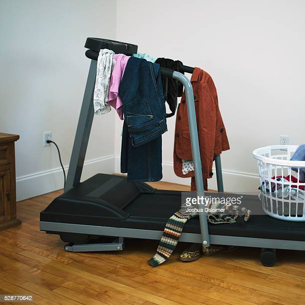 Clothing on treadmill