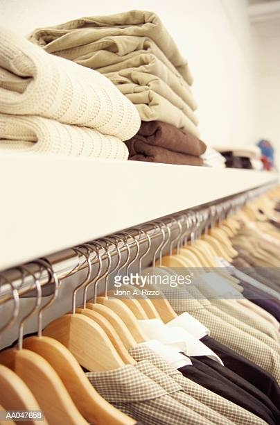 Clothing rack in store