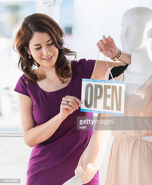 clothing store open for business - store opening stock pictures, royalty-free photos & images