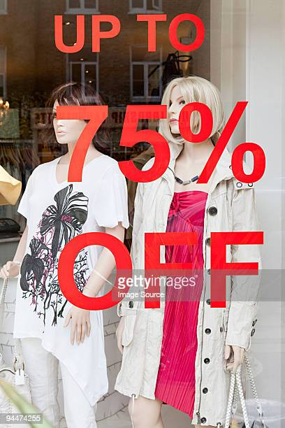 clothing store with sale - percentage sign stock pictures, royalty-free photos & images