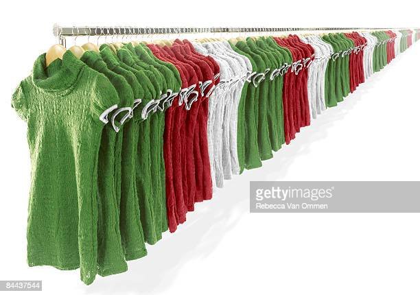 cloths rail with infinite amount of dresses