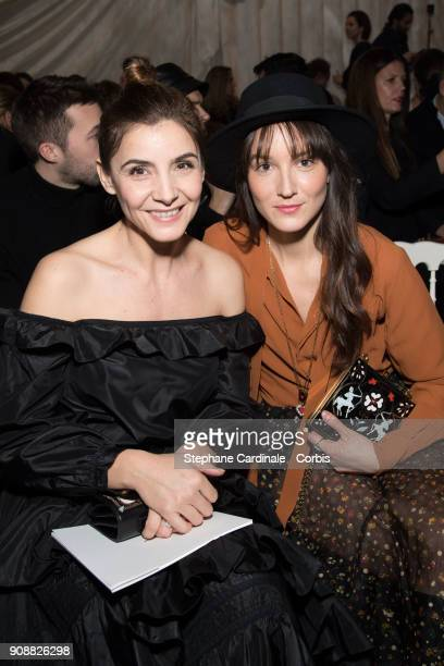Clotilde Courau and Anais Demoustier attend the Christian Dior Haute Couture Spring Summer 2018 show as part of Paris Fashion Week January 22 2018 in...