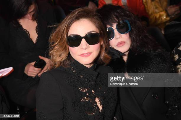 Clotilde Courau and Isabelle Adjani attend the Elie Saab Haute Couture Spring Summer 2018 show as part of Paris Fashion Week on January 24 2018 in...