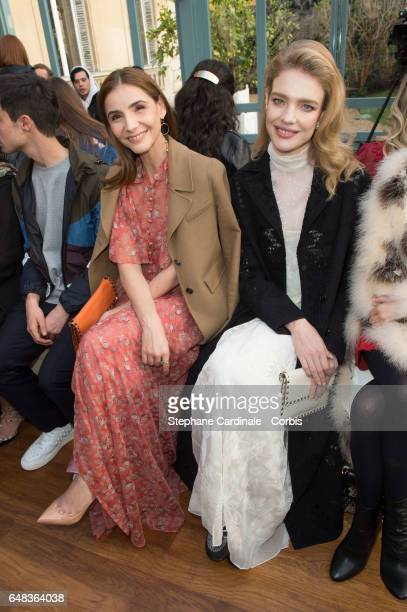 Clotilde Courau and Natalia Vodianova attend the Valentino show as part of the Paris Fashion Week Womenswear Fall/Winter 2017/2018 on March 5 2017 in...