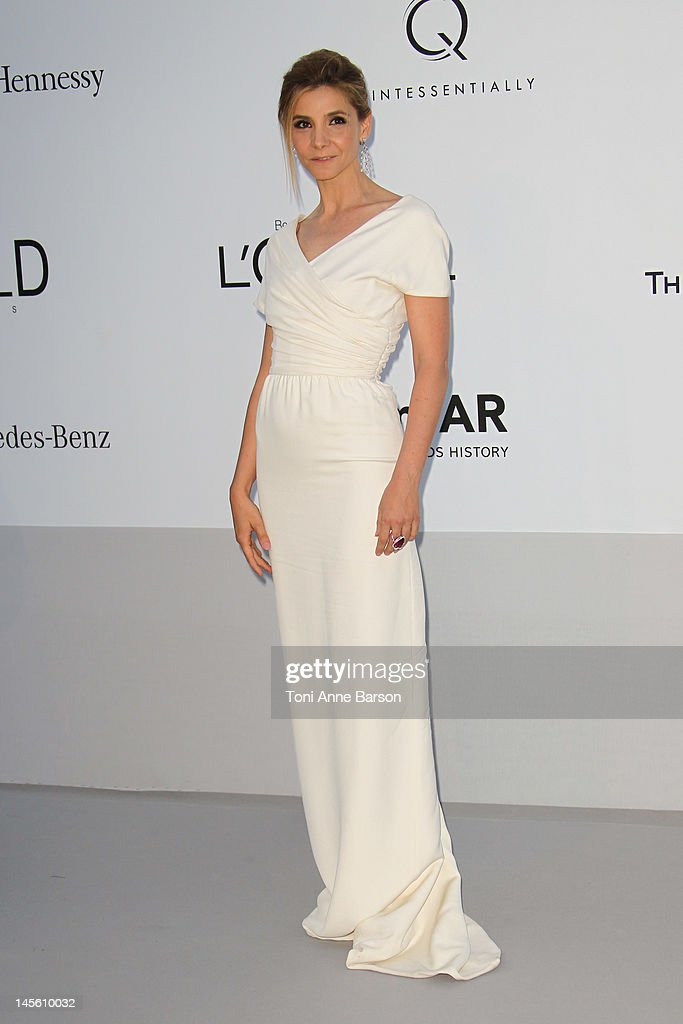 Clotilde Courau arrives at amfAR's Cinema Against AIDS at Hotel Du Cap on May 24, 2012 in Antibes, France.