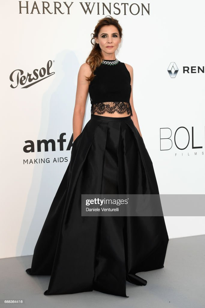 Clotilde Courau arrives at the amfAR Gala Cannes 2017 at Hotel du Cap-Eden-Roc on May 25, 2017 in Cap d'Antibes, France.
