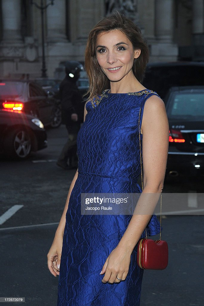 Clotilde Courau arrives at 'The Glory Of Water' : Karl Lagerfeld's Exhibition Dinner at Fendi on July 3, 2013 in Paris, France.