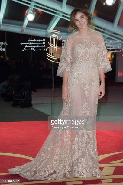 Clotilde Courau arrives at the opening ceremony of the 13th Marrakesh International Film Festival on November 29 2013 in Marrakech Morocco