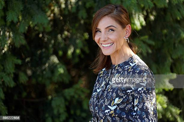 Clotilde Courau attends 9th Angouleme French-Speaking Film Festival on August 25, 2016 in Angouleme, France.
