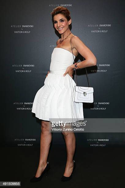 Clotilde Courau attends a party hosted by Swarovski and Viktor Rolf during the 67th Annual Cannes Film Festival on May 16 2014 in Cannes France