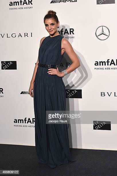 Clotilde Courau attends amfAR Milano 2014 during Milan Fashion Week Womenswear Spring/Summer 2015 on September 20 2014 in Milan Italy