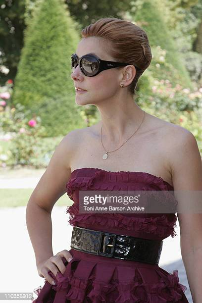 Clotilde Courau attends Dior '09 Fall Winter Haute Couture fashion show at the Rodin Museum on June 30 2008 in Paris France