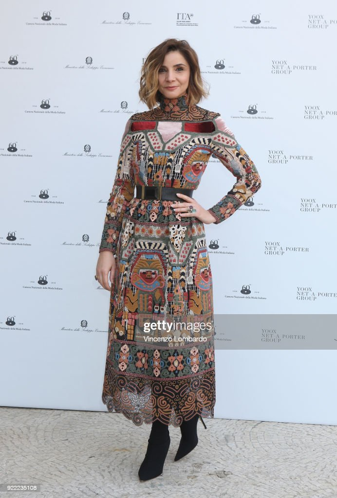 Clotilde Courau attends 'Italiana. L'Italia Vista Dalla Moda 1971-2001' exhibition preview during Milan Fashion Week Fall/Winter 2018/19 at Palazzo Reale on February 21, 2018 in Milan, Italy.