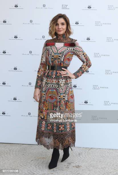 Clotilde Courau attends 'Italiana L'Italia Vista Dalla Moda 19712001' exhibition preview during Milan Fashion Week Fall/Winter 2018/19 at Palazzo...