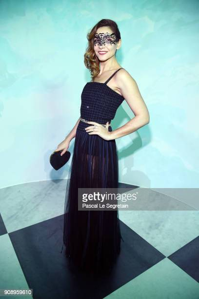 Clotilde Courau attends Le Bal Surrealiste Dior during Haute Couture Spring Summer 2018 show as part of Paris Fashion Week on January 22 2018 in...