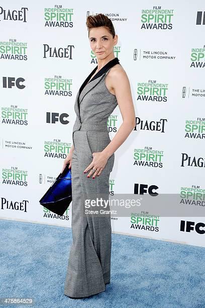 Clotilde Courau attends the 2014 Film Independent Spirit Awards at Santa Monica Beach on March 1 2014 in Santa Monica California