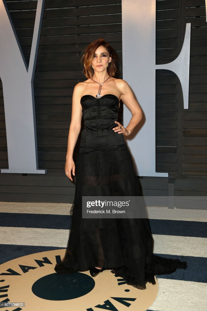 Clotilde Courau attends the 2018 Vanity Fair Oscar Party hosted by Radhika Jones at Wallis Annenberg Center for the Performing Arts on March 4, 2018 in Beverly Hills, California.