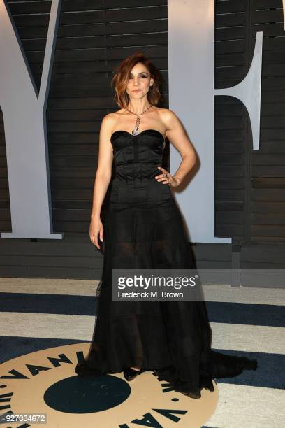 Clotilde Courau attends the 2018 Vanity Fair Oscar Party hosted by Radhika Jones at Wallis Annenberg Center for the Performing Arts on March 4 2018...