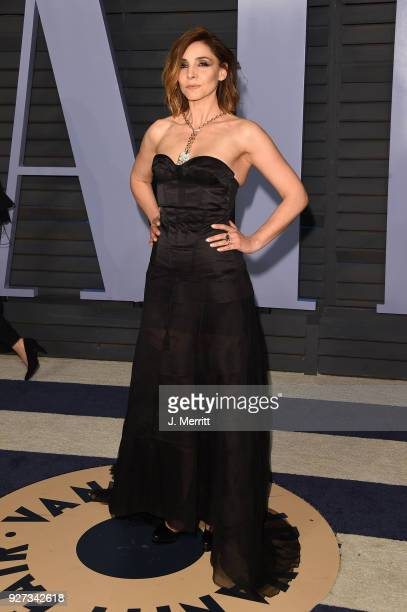 Clotilde Courau attends the 2018 Vanity Fair Oscar Party hosted by Radhika Jones at the Wallis Annenberg Center for the Performing Arts on March 4,...