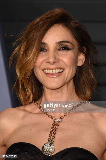 Clotilde Courau attends the 2018 Vanity Fair Oscar Party hosted by Radhika Jones at the Wallis Annenberg Center for the Performing Arts on March 4...