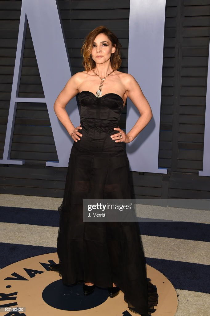 Clotilde Courau attends the 2018 Vanity Fair Oscar Party hosted by Radhika Jones at the Wallis Annenberg Center for the Performing Arts on March 4, 2018 in Beverly Hills, California.