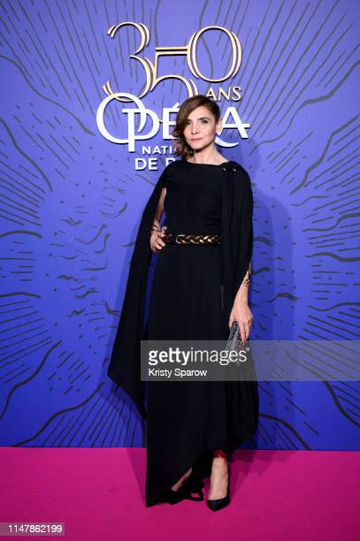 Clotilde Courau attends the 350th Anniversary Gala photocall at Opera Garnier on May 08, 2019 in Paris, France.