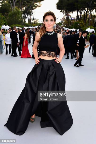 Clotilde Courau attends the amfAR Gala Cannes 2017 at Hotel du CapEdenRoc on May 25 2017 in Cap d'Antibes France